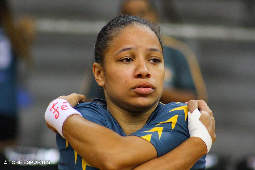 Bruna Dias, CEPE/Santos, artilheira no último confronto. (foto arquivo Tchê Esportes)