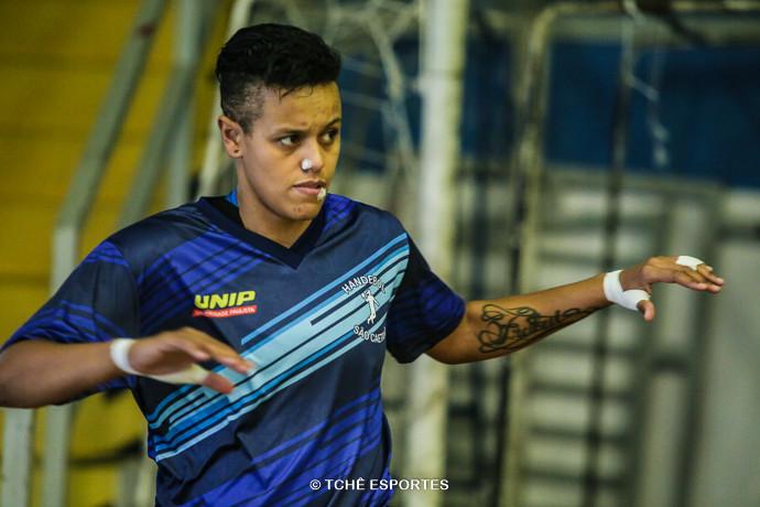 Jéssica, goleira do São Caetano. (foto arquivo Tchê Esportes)