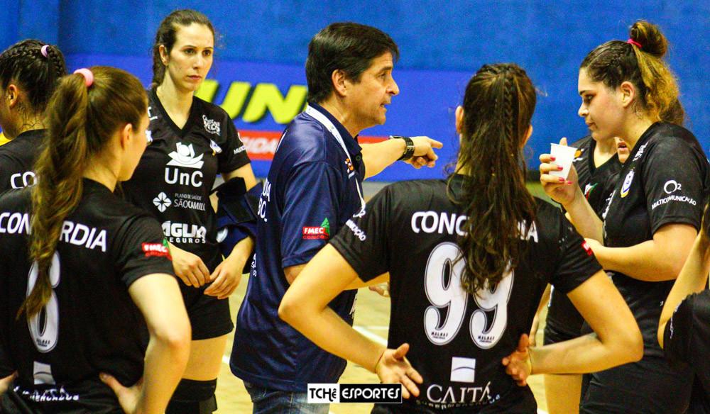 Alexandre Schneider, técnico da UnC/Concórdia-SC (foto arquivo Tchê Esportes)