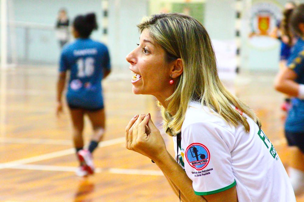 Monica Neves, técnica do CEPE/Santos. (foto André Pereira / Tchê Esportes)