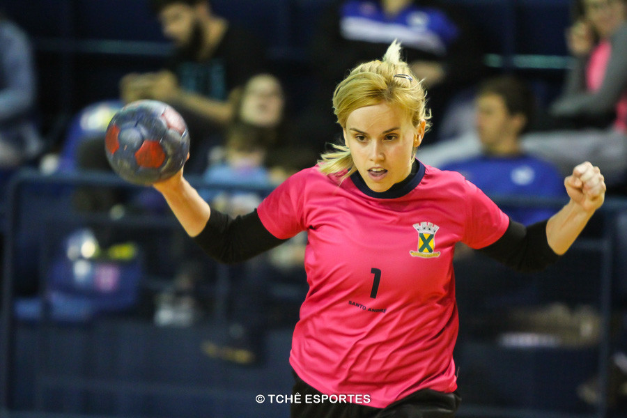 Flávia, goleira do Santo André. (foto André Pereira / Tchê Esportes)