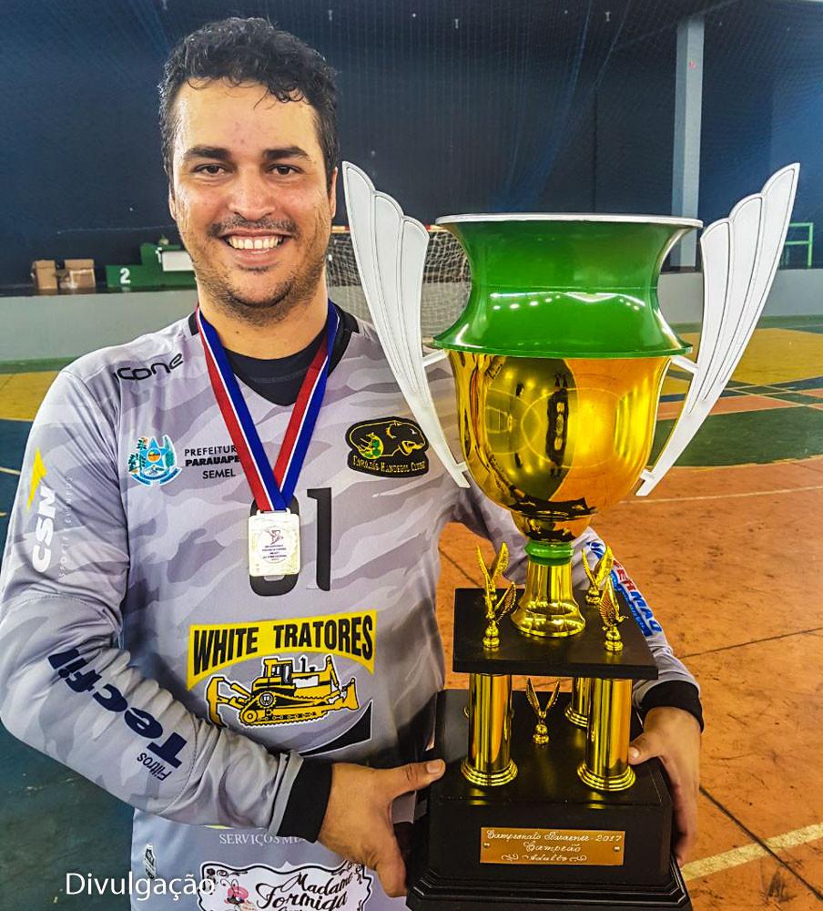 Roger Moura, presidente e goleirodo CHC. (foto Divulgação)