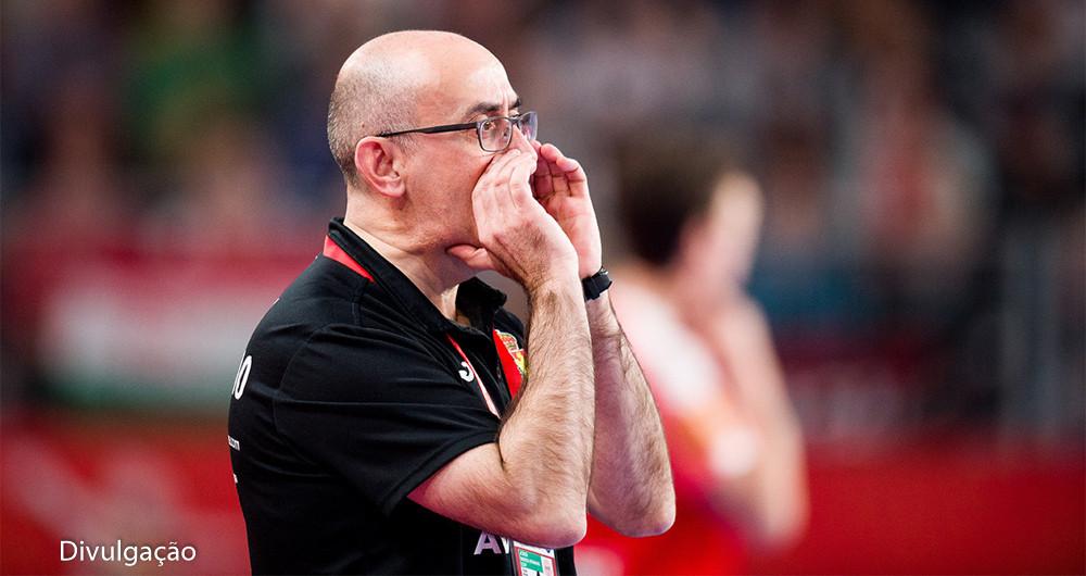 Jordi Ribera, técnico da Seleção Espanhola. (foto HRS/Sasa Pahic Szabo