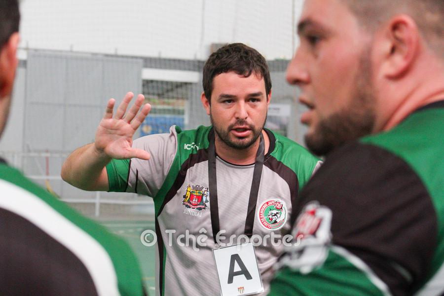 Daniel Setina, técnico do Clube Handebo Japy/Jundiaí. (foto arquivo Tchê Esportes)