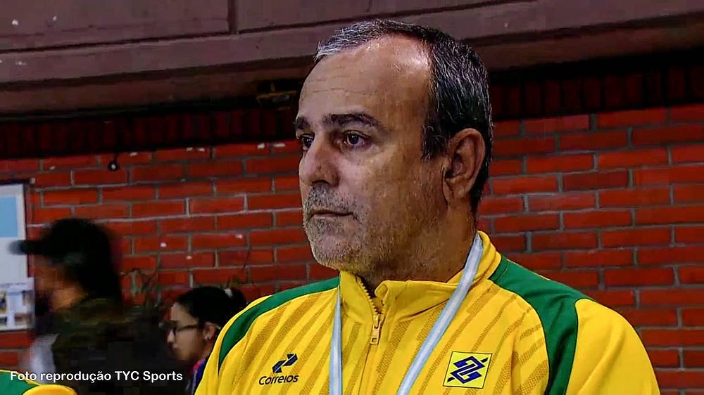 Graciano, técnico da Seleção Brasileira. (foto reprodução TYC Sports)
