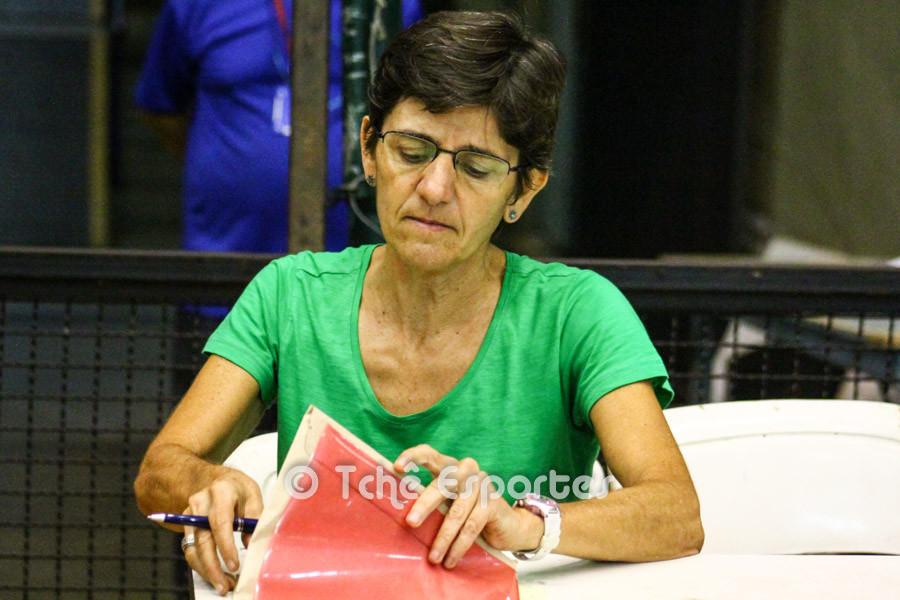 Silvana Silva, delegada da FPHb. (foto André Pereira / Tchê Esportes)