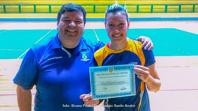 """Fernanda Barbosa, do Santo André. """"Melhor Jogadora da Partida"""" (foto: Bruno Pilon / Divulgação Santo André)"""