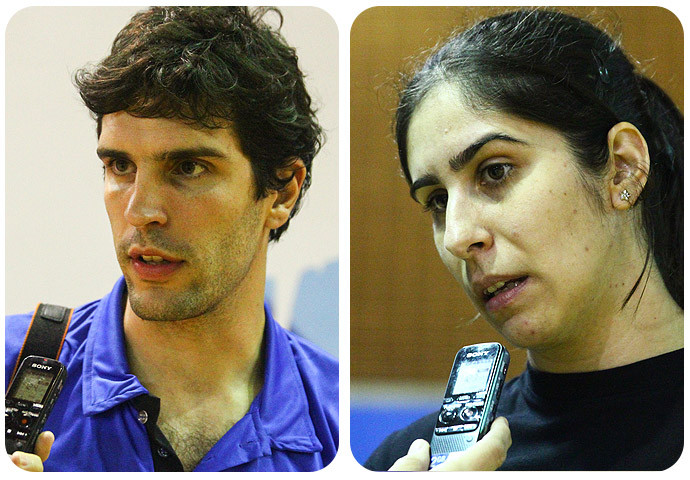 Alex Aprille (EC Pinheiros) e Renata Hernandes (Osasco). (arte Tchê Esportes)