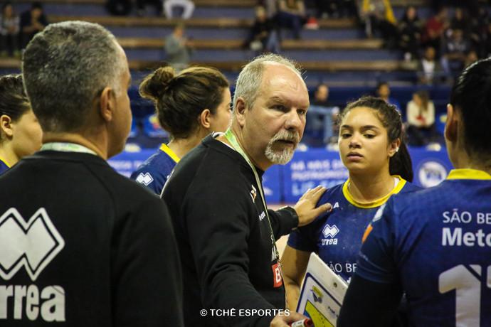 Eduardo Carlone, técnico do São Bernardo. (foto André Pereira / Tchê Esportes)