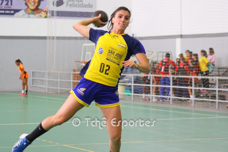 Jessica Dias, São José, melhor jogadora da partida. (foto André Pereira / Tchê Esportes)