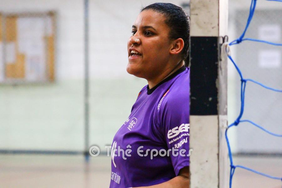 Paula Dias, goleira do Jundiaí. (foto André Pereira / Tchê Esportes)