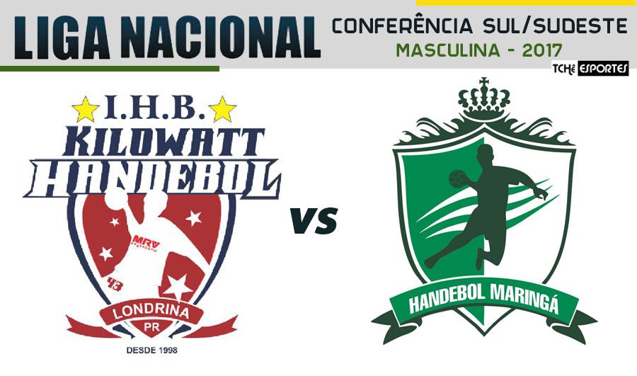 Londrina(PR) vs Maringá)PR) - Liga Nacional - Conferência Sul/Sudeste (arte Tchê Esportes)