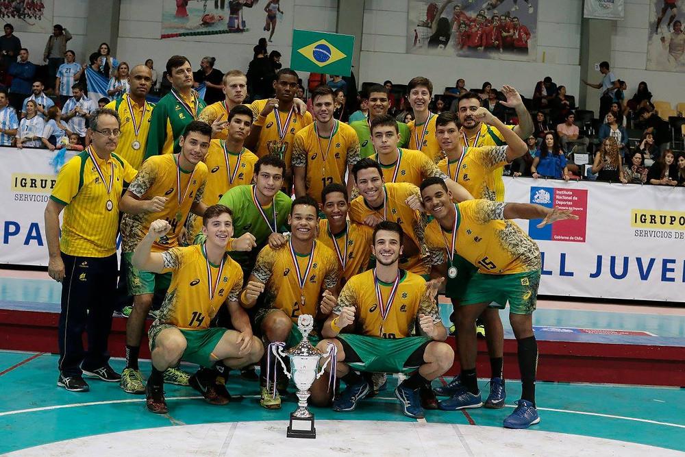 Seleção Brasileira Juvenil Masculina de Handebol. (foto Divulgação)