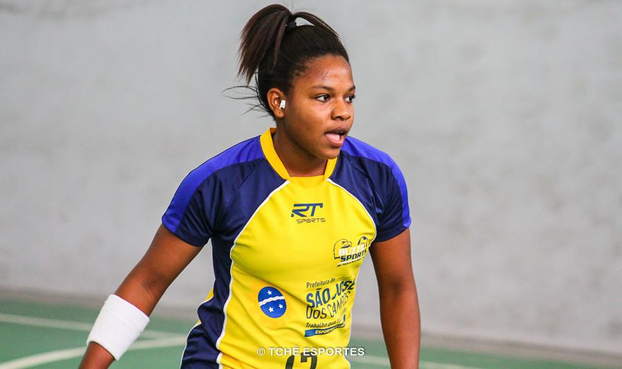 Marilene Domingos, do São José, artilheira do jogo com 7 gols, juntamente com Tatiane Cristina. (foto arquivo Tchê Esportes)