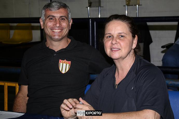 Marcelo Matos e Monia Augusto. (foto André Pereira / Tchê Esportes)