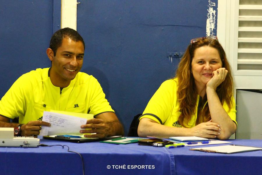 Secretário e cronometrista: Monia Augusto e Fabio Passos. Foto: André Pereira / Tchê Esportes