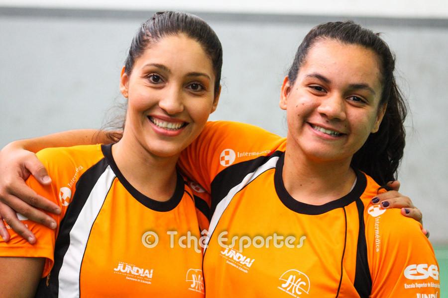 Katia e Luana defendem o Jundiaí. (foto arquivo Tchê Esportes)