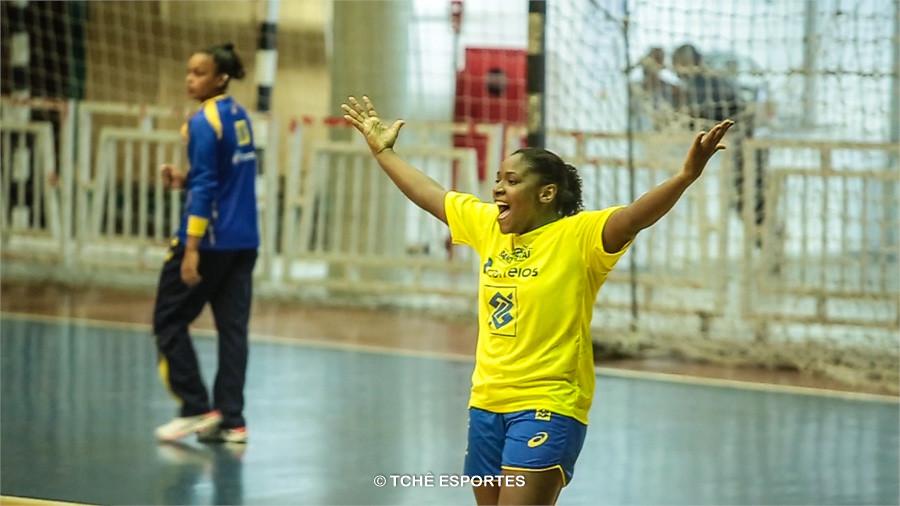 Mariane Fernandes, artilheira do Brasil. (foto arquivo Tchê Esportes)