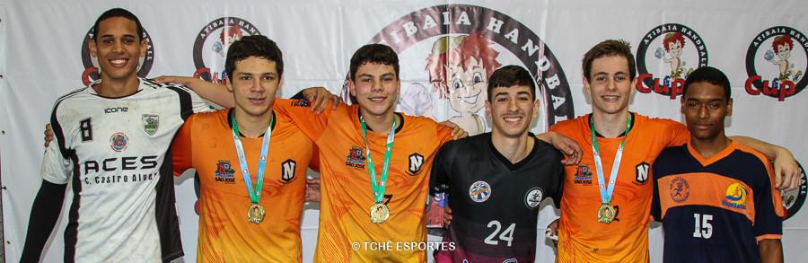 Seleção Cadete masculino. (foto André Pereira / Tchê Esportes)