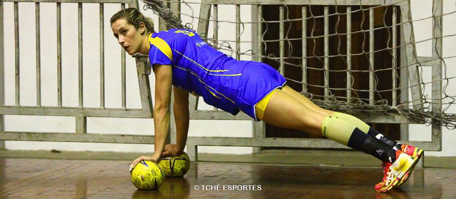 Célia Coppi, treino da seleção em 2015. (foto arquivo Tchê Esportes)