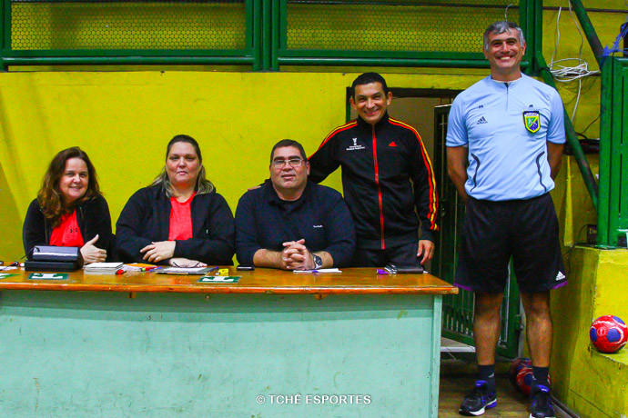 Monia Augusto, Marta Augusto, Bruno de Melo, Nilson Menezes e Marcelo Matos. (foto Andréa Rodrigues / Tchê Esportes)