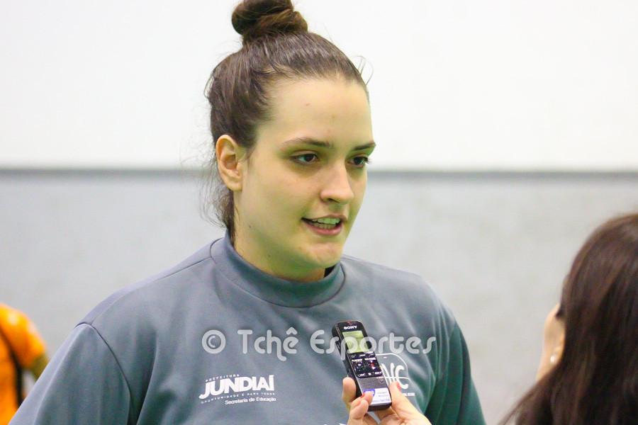 Gabi Moreschi, goleira do Jundiaí. (foto André Pereira / Tchê Esportes)