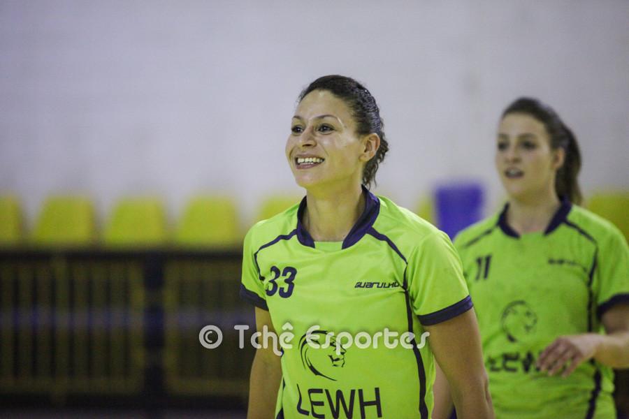 Romana Oliveira, Guarulhos, artilheira no último jogo. (foto arquivo Tchê Esportes)