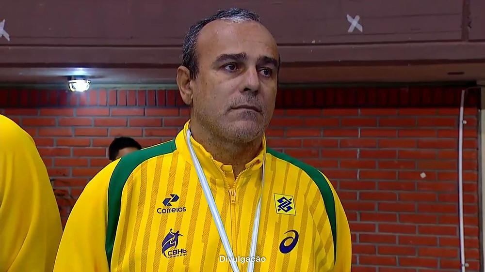 Sérgio Graciano, técnico da Seleção Brasileira de Handebol (foto reprodução Tyc Sports Play )