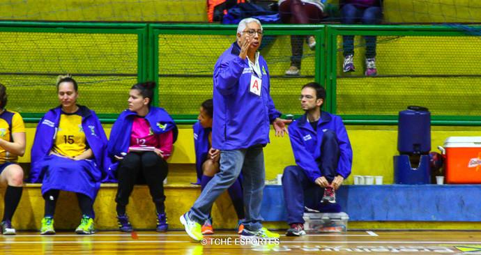 Rubens Piazza, técnico do Santo André. (foto Andréa Rodrigues / Tchê Esportes)