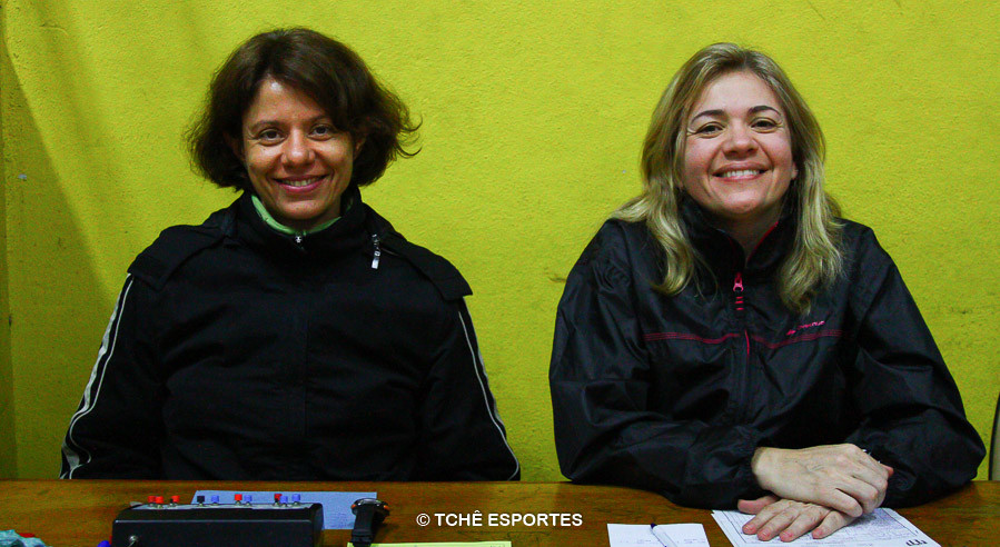 Silmara Furtado, cronometrista  e Andrea Inglez, secretária. (foto Andréa Rodrigues)