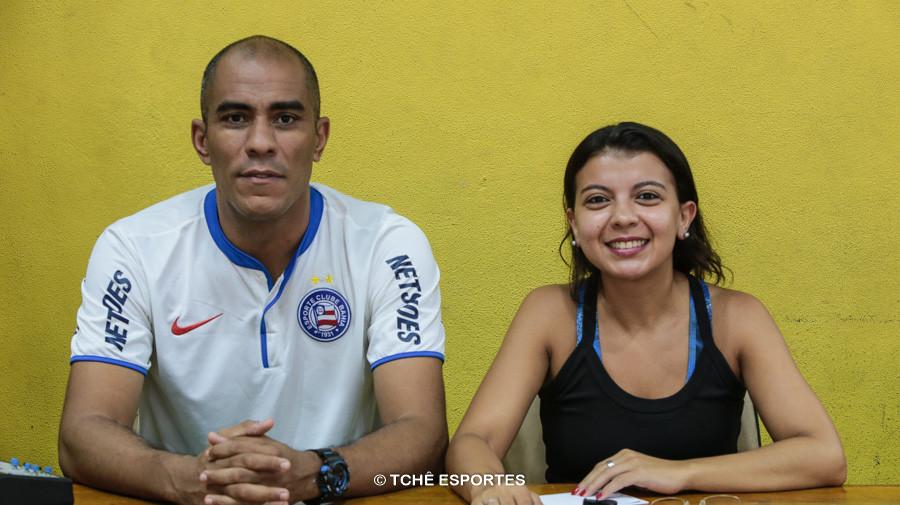 Carlos Junior e Amanda Teixeira, mesários. (foto Agno Raiz / Tchê Esportes)