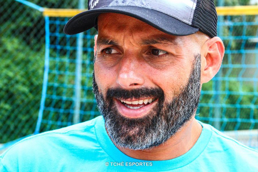 Gilberto Diniz, atleta e presidente da FPFv. (foto André Pereira / Tchê Esportes)