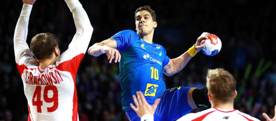 Brasil arruma o time no Mundial de Handebol e vence a Polônia