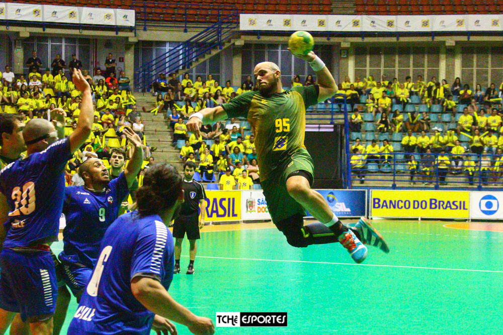 Seleção Brasileira de Handebol Masculino. (foto André Pereira /Tchê Esportes)