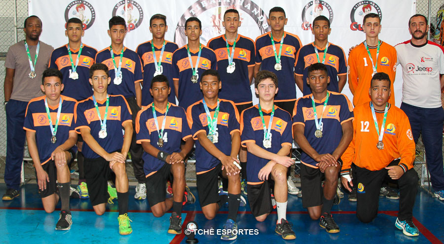 Vice-Campeão CADETE masculino / Escola Estadual Wilson Roberto Simonini/Handballas. (foto André Pereira / Tchê Esportes)