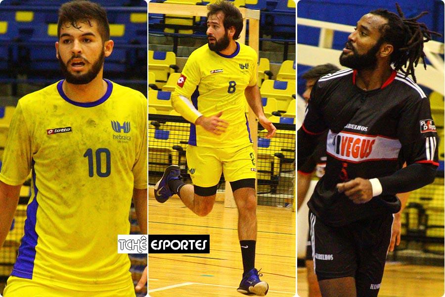 Wagner Alves e Renato Cher, da Hebraica. Anderson Silva, do Guarulhos. (foto André Pereira / Tchê Esportes)