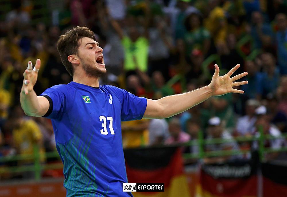 Daniel Langaro, armador da Seleção Brasileira de Handebol. (foto Shannon Stapleton / Reuters)