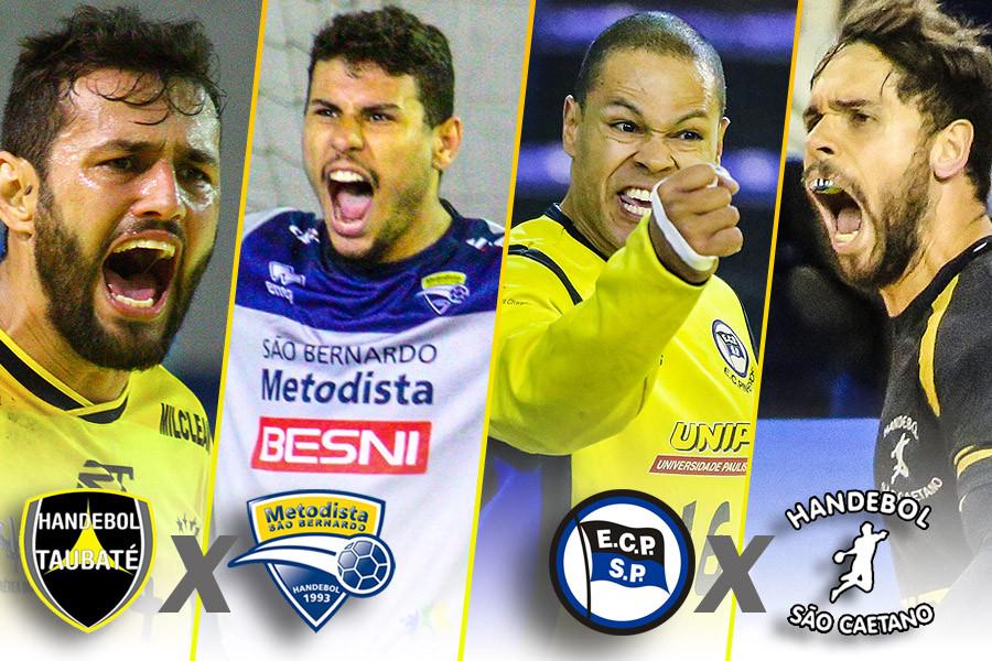 Semifinalistas do Super Paulistão Masculino. (arte Tchê Esportes)