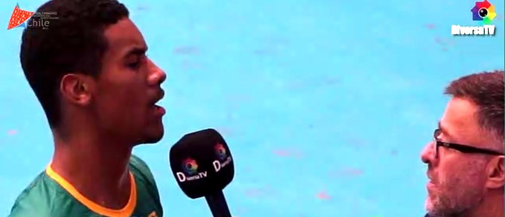 Leadro Monte da Silva, ponta do Brasil. (foto reprodução DiversaTV)