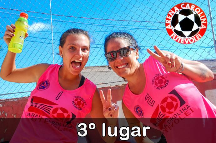 Juliana e Mirella, 3º lugar Circuito Feminino da Arena Carolina Futevôlei. (foto Fernanda Rodrigues)