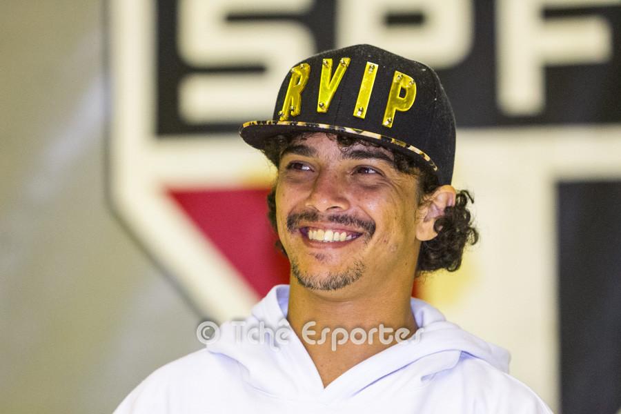 Dhieguinho, Futevôlei SPFC. (foto André Pereira / Tchê Esportes)