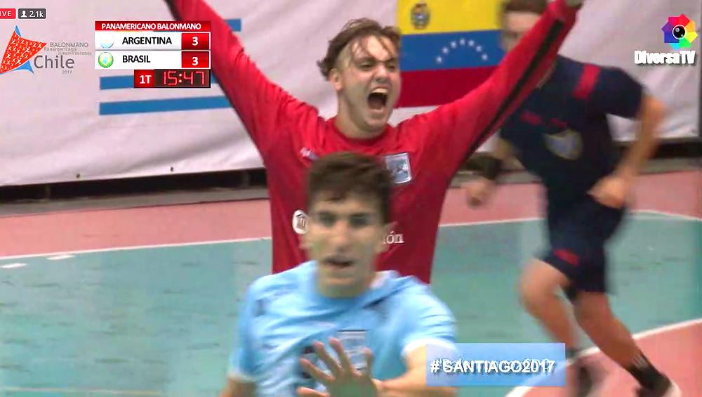 Santiago Giovagnola, golerio da Argentina. (foto reprodução DiversaTV)