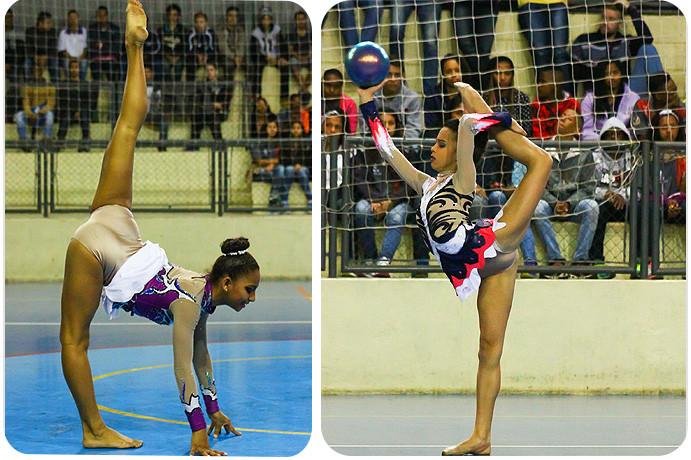 Equipe de ginástica rítmica de Atibaia. (fotos André Pereira / Tchê Esportes)