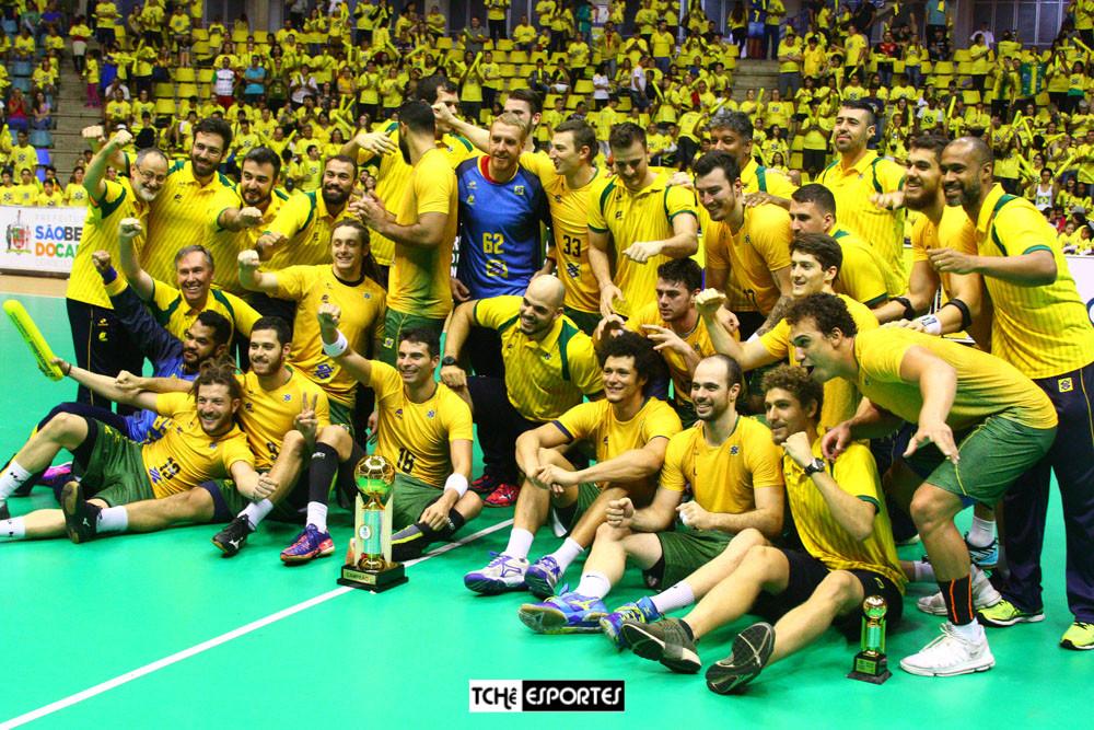 Seleção Brasileira Masculina de Handebol (foto André Pereira / Tchê Esportes)