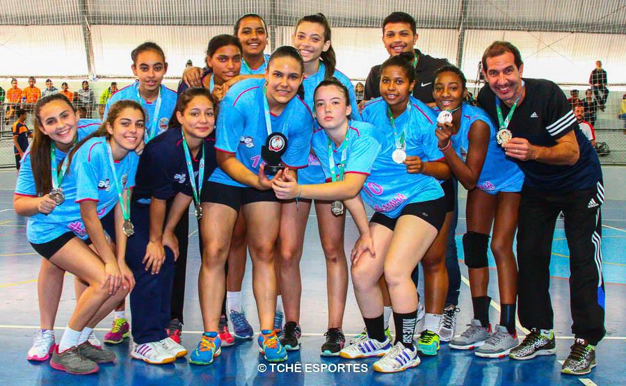 Vice-Campeã CADETE feminino / Atibaia. (foto André Pereira / Tchê Esportes)