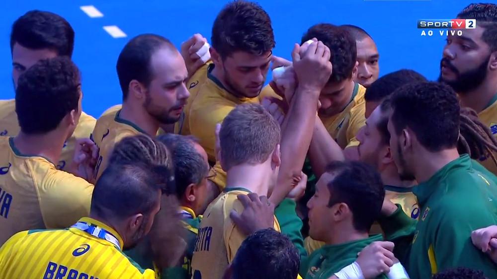 Seleção Brasileira de Handebol. (foto reprodução SporTV)