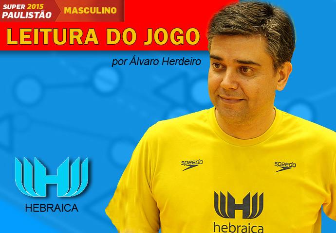 Álvaro Herdeiro, técnico da Hebraica. (arte Tchê Esportes)