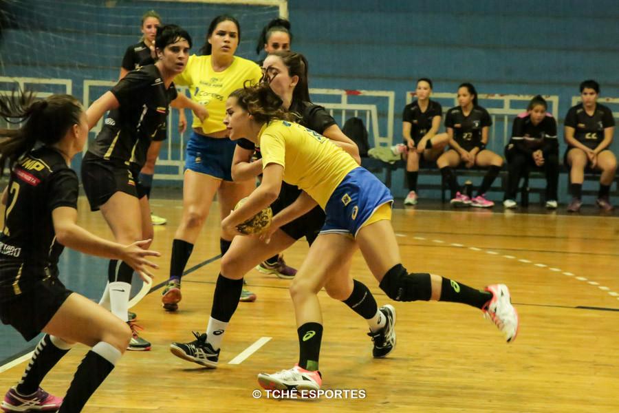 Seleção Feminina Junior vence último jogo-treino antes do Pan. (foto André Pereira / Tchê Esportes)