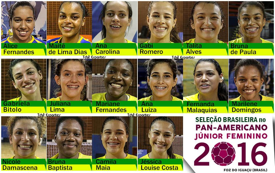 Elenco do Brasil para o Pan-americano 2016. (arte Tchê Esportes)