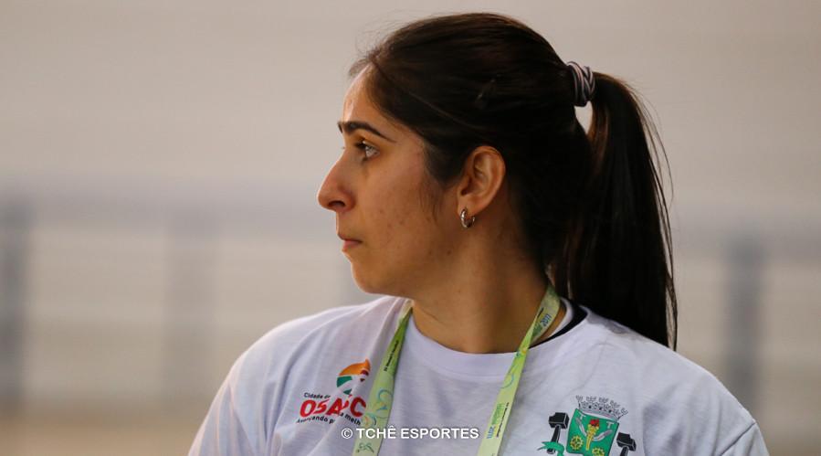 Renata Hernandes, técnica de Osasco. (foto André Pereira / Tchê Esportes)